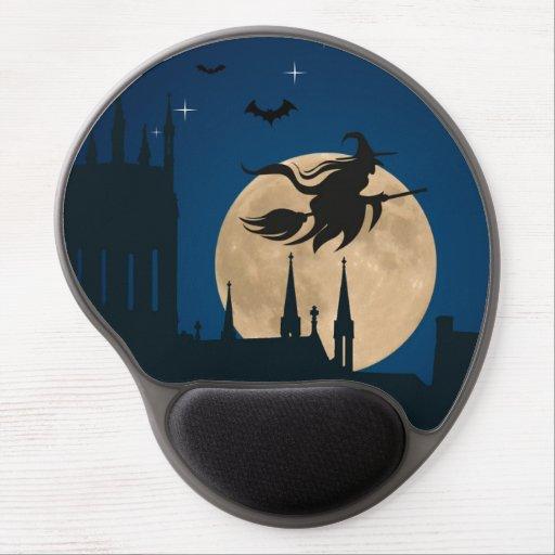 Halloween Night Scene Gel Mousepad