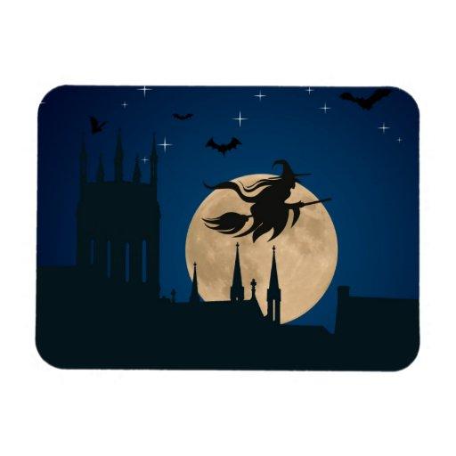 Halloween Night Scene Vinyl Magnet