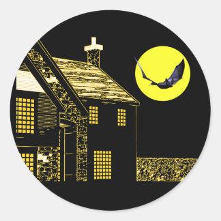 Halloween Night Round Sticker