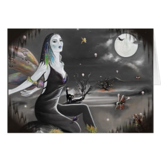 Halloween Night Wings  (card) Greeting Card