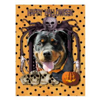 Halloween Nightmare - Rottweiler - SambaParTi Postcard