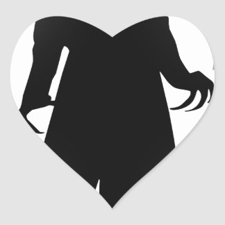 halloween nosferatu heart sticker