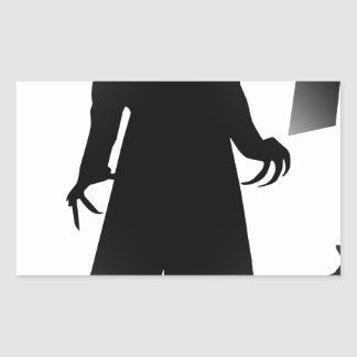 halloween nosferatu rectangular sticker