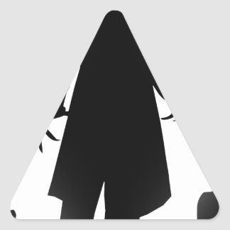 halloween nosferatu triangle sticker