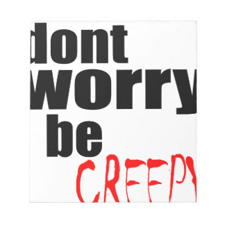 halloween october autumn dont worry creepy haunted notepad