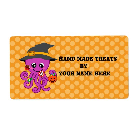 Halloween Octopus Shipping Label