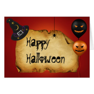 Halloween Old Parchment Greeting Card