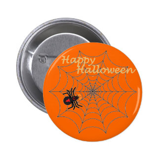 Halloween On The Web!  Button 2 Inch Round Button