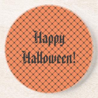 Halloween Orange and Black Pattern Coasters