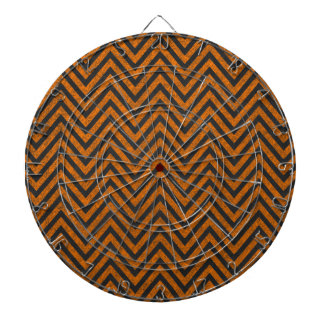 Halloween Orange Chevron Chalkboard Pattern Dart Board