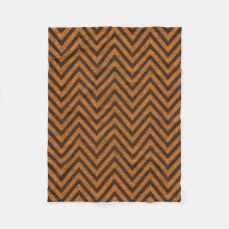 Halloween Orange Chevron Chalkboard Pattern Fleece Blanket