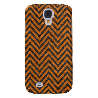 Halloween Orange Chevron Chalkboard Pattern Galaxy S4 Cover