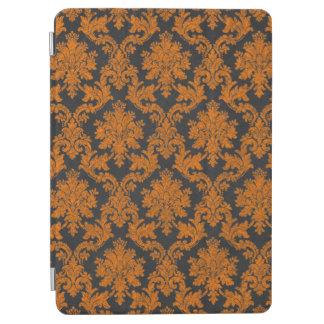Halloween Orange Damask Chalkboard Pattern iPad Air Cover