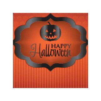 Halloween orange jack o'lantern canvas print