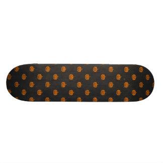 Halloween Orange Pumpkin Chalkboard Pattern 21.6 Cm Skateboard Deck