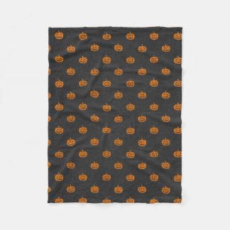 Halloween Orange Pumpkin Chalkboard Pattern Fleece Blanket