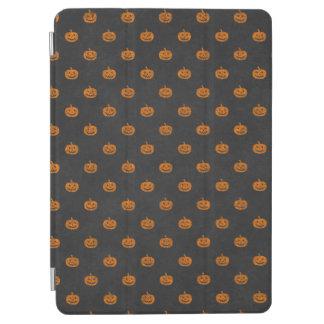 Halloween Orange Pumpkin Chalkboard Pattern iPad Air Cover