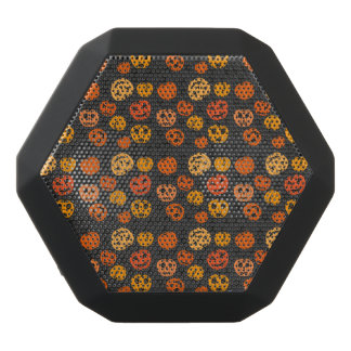 Halloween Orange Pumpkin Pattern Black Bluetooth Speaker