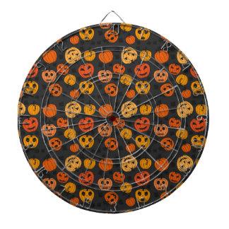 Halloween Orange Pumpkin Pattern Dartboard