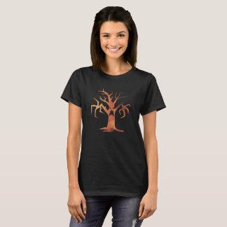 Halloween Orange Spooky Haunted Tree Costume Shirt