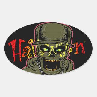 Halloween Oval Sticker