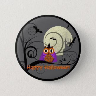 Halloween Owl 6 Cm Round Badge