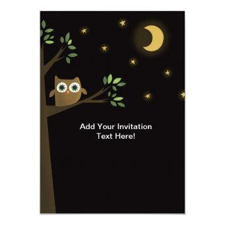 "Halloween Owl at night Custom Invitation 5"" X 7"" Invitation Card"