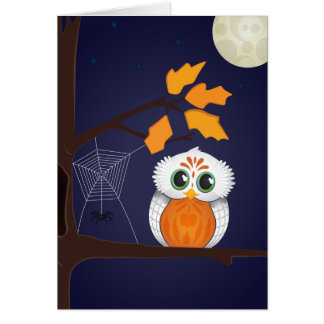 Halloween Owl Greeting Card