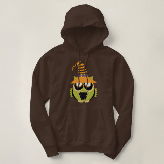 Halloween Owl in Witch's Hat Hoodie