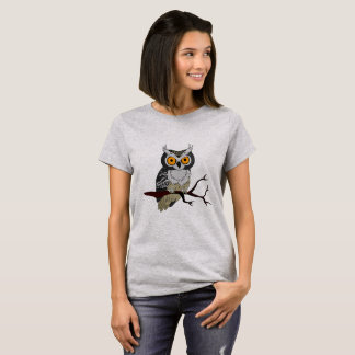 Halloween Owl On Branch T-Shirt