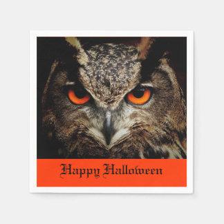 Halloween Owl Disposable Serviettes