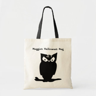 Halloween Owl Personalized Tote Budget Tote Bag