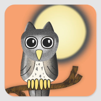 Halloween Owl Square Sticker