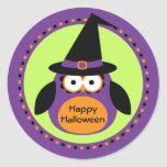 Halloween Owl Witch Party Favour Stickers