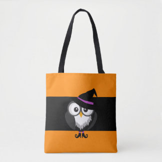 Halloween Owl Witch Trick or Treat Bag Tote Bag