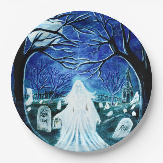 Halloween paper party plates 9 inch paper plate