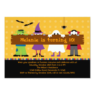 Halloween Parade Costume Birthday Party Invitation