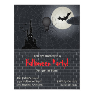 Halloween Party 11 Cm X 14 Cm Invitation Card