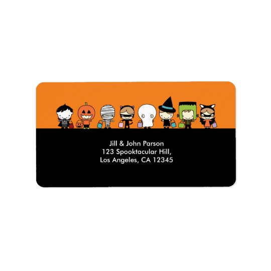 Halloween Party Address Label