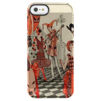 Halloween Party Black Cat Owl Bat Art Deco Clear iPhone SE/5/5s Case