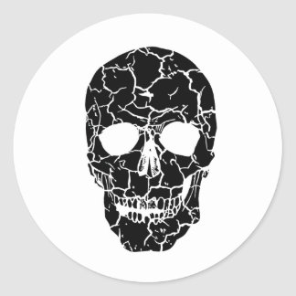 Halloween Party Black White Skeleton Skull Sticker
