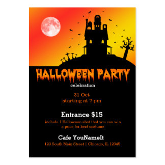 Halloween party business card
