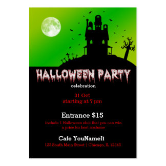 Halloween party business card templates