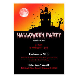 Halloween party business card template