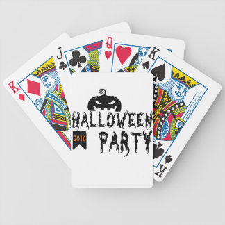 Halloween party design bicycle playing cards