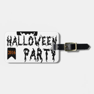 Halloween party design luggage tag