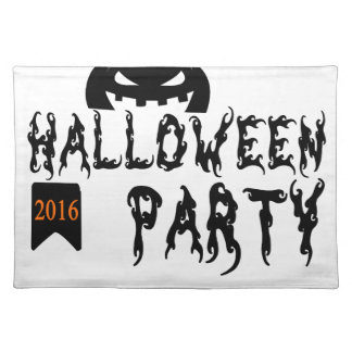 Halloween party design placemat