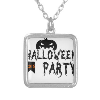 Halloween party design silver plated necklace