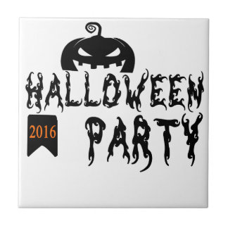 Halloween party design tile