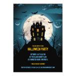 Halloween Party Flat Invitation Card